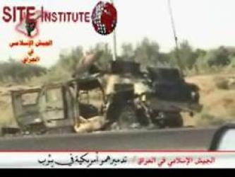 The Islamic Army in Iraq Issues a Video of Bombing a Humvee and the Wreckage Aftermath