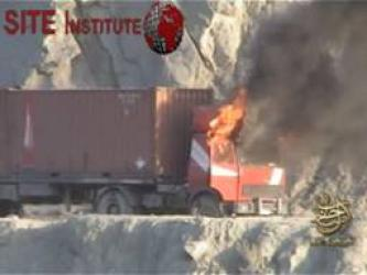 As-Sahab Issues Video of Burning an American Supply Truck in Khost