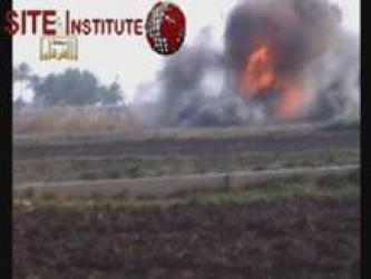 "Islamic State of Iraq Issues Video through al-Furqan Foundation of ""Unique Operation"" in Destroying and Burning a Hummer in al-Radwaniyah"