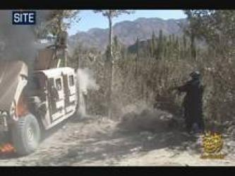 As-Sahab Issues Video of Mujahideen Burning Hummer in Wardak