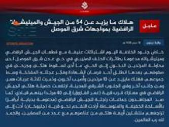 IS Reports on Turkish Police Station Attack in Naba 54