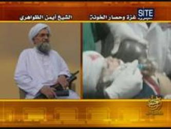 Zawahiri Blames Obama, Mubarak for Gaza Offensive