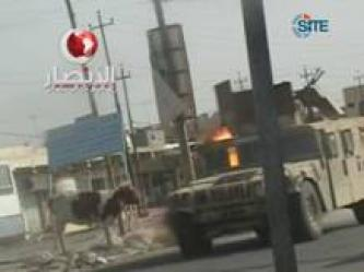 Ansar al-Islam Video of Bombing Iraqi Humvee in Mosul