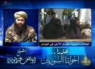 AQIM Leader Slams Algerian Government's Treatment of Syrian Refugees