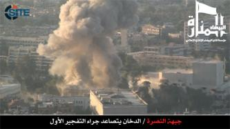Al-Nusra Front Claims Double Bombing, Raid at Military HQ