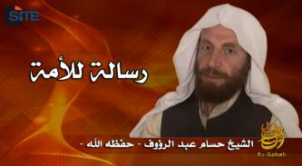 """Vanguards of Khorasan"" Editor Promotes al-Qaeda, Revolutions in First Appearance in as-Sahab Video"