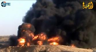 ITMC Video Shows Fuel Burned, Buildings Destroyed by Egyptian Army