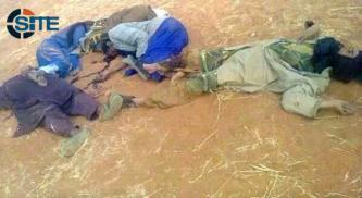 "Jihadist Gives Picture of ""Mercenaries"" Killed by Tawhid and Jihad in West Africa"