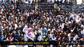 ISIS Shows Demonstration Supporting Group, Scenes of Attack in Ninawa