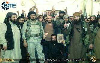 IS Publishes Photos of al-Nusra Front Members Repenting, Pledging to IS in al-Bukamal