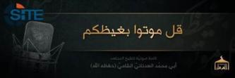 IS Spokesman Renews Call for Lone-Wolf Attacks in the West
