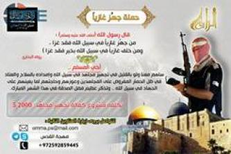 Palestinian Jihadi Group Asks for Donations, Gives Skype and Telegram Contact Info