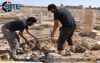 IS Publishes Photo Report on Destroying Graves in Tadmur (Palmyra)