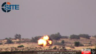 IS Claims Destroying Egyptian Armored Military Tanks