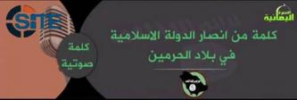 Supporters of the IS in KSA Call on Saudi Muslims to Pledge to IS in Audio