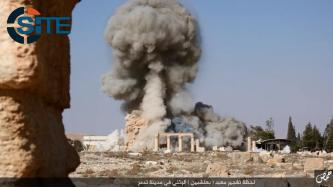 IS Publishes Photos of Blowing Up Temple of Baalshamin in Tadmur (Palmyra)