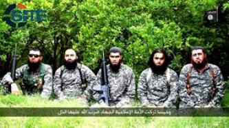 Azerbaijani IS Fighters Speak from IS Training Camp in Iraq, Call Muslims to Fight