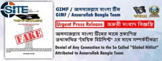 "Ansarullah Bangla Team Denies Connection to ""Global Hitlist"""