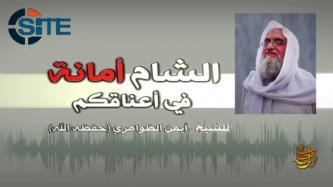 Zawahiri Criticizes Riyadh Conference, Cautions Against and Condemns IS