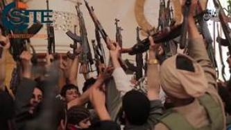 IS' 'Amaq Agency Releases Video of 140 Youths in Manbij Receiving Weapons to Fight Alongside IS