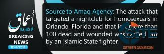 IS' 'Amaq Reports IS Fighter Behind Orlando Nightclub Shooting