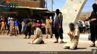 "IS Publicly Executes 5 Men in Western Iraq for Trying to Smuggle Others into the ""Lands of Disbelief"""