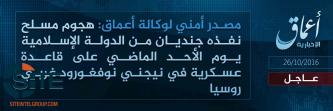 'Amaq Reports IS Soldiers Executed Attack in Russian City of Nizhny Novgorod