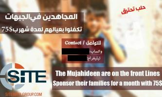 Jihadist Telegram Channels Solicit Donations for Families of Fighters in Syria