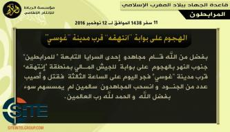 AQIM's al-Murabitoon Claims Attack on Malian Army Position Near Gossi