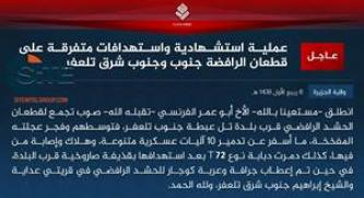 IS Claims Suicide Bombing by French Fighter on Militiamen South of Tal Afar