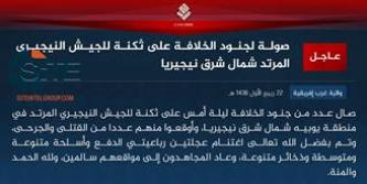 IS' West Africa Province Claims Attack on Nigerian Army in Yobe State