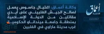 IS' 'Amaq Reports Assassination of Spy for Philippine Army in Marawi