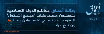 'Amaq Reports IS Attack on Settlement in Southern Israel