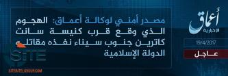 'Amaq Reports IS' Responsibility for Attack Near St. Catherine's Monastery in South Sinai