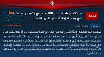 IS Claims Credit for Manchester Bombing, Killing and Wounding Nearly 100