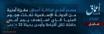 IS Claims Credit Through 'Amaq for Killing Coptic Christians in Minya
