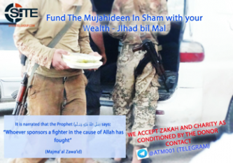 "Jihadist Channel Solicits Donations to ""Fund the Mujahideen"" in Syria"