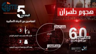 IS' 'Amaq Publishes Infographic on Five-Man Raid in Iranian Capital