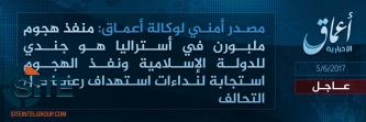 "'Amaq Reports Melbourne Attacker a ""Soldier of the IS"""