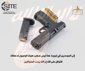 Jihadist Encourages IS Supporters in Europe to Acquire Handguns and Attack