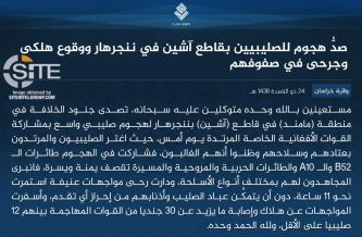 "IS Claims Killing at Least 12 ""Crusaders"" in Near-11 Hour Clash in Nangarhar"