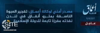 'Amaq Reports IS' Responsibility for London Metro Bombing