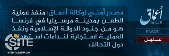 'Amaq Reports Responsibility of IS for Attack in Marseille