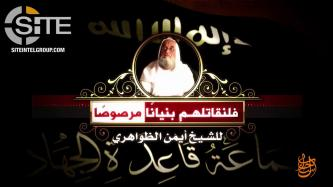 AQ Leader Zawahiri Gives First Public Rejection of Nusra Front Split