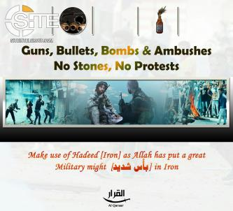 Pro-IS Group Urges Kashmiri Protestors Use Bullets Not Stones, Publishes Articles on Pakistani Influence over Militants