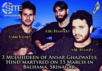 AQ-Aligned Ansar Ghazwat-ul-Hind Mourns 3 Slain Fighters in 2nd Issue of Nasr Bulletin