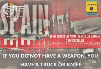 Pro-IS Group Incites Lone Wolves in Spain to Mount Vehicular and Knife Attacks