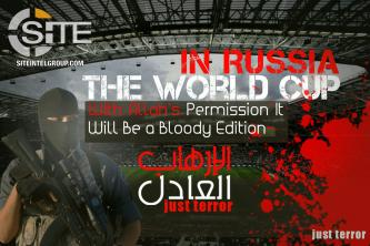 IS Supporters Distribute Posters with Bombs and Gurneys to Threaten 2018 FIFA World Cup in Russia