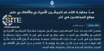 IS' Khorasan Province Claims Repulsing Joint U.S.-Afghan Raid on Position in Kunar