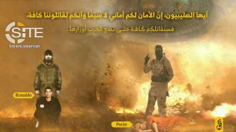 Pro-IS Group Depicts Luzhniki Stadium in Flames, Putin and Ronaldo as IS Prisoners